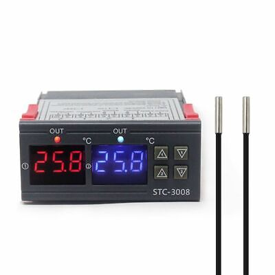 Thermostat Temperature Controller Dual Digital Two Relay Output Thermoregulators