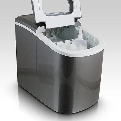 Eiswürfelmaschine Eiswürfelbereiter Eiswürfel Ice Maker Eis Maschine in Grau
