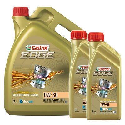 2x 1 L + 5 L = 7 LITER CASTROL EDGE FLUID TITANIUM 0W-30 MOTOR-ÖL 31439236