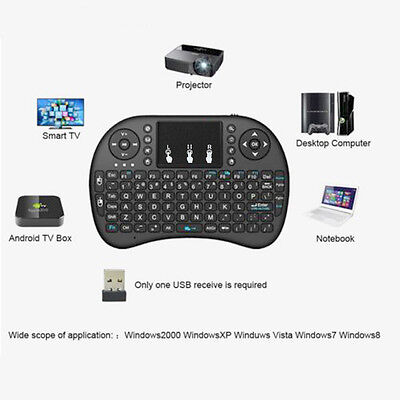 10 X i8 2.4G Air Mouse Wireless Keyboard God-forsaken Control Touchpad for Android TV
