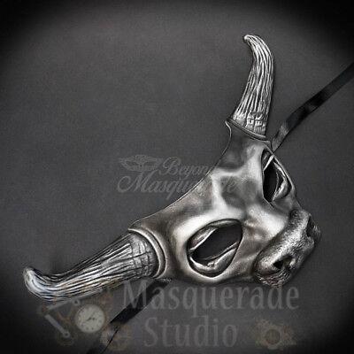 Cow Bull Animal Spirit Halloween Wall Decoration Masquerade Mask [Silver] - Spirit Halloween Animal Masks