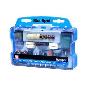 64 Pc Piece Multitool Rotary Tool Dremel Type Kit Accessory Set Blue Spot 19015