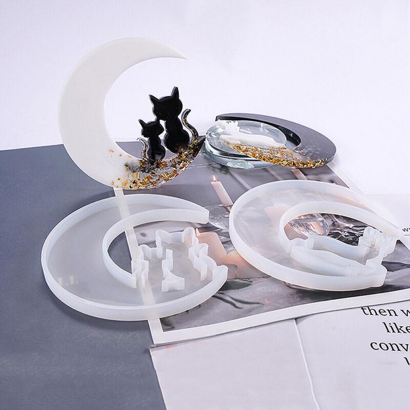 Moon Resin Casting Silicone Mold Epoxy Pendants Crafts Handwork Supplies DIY