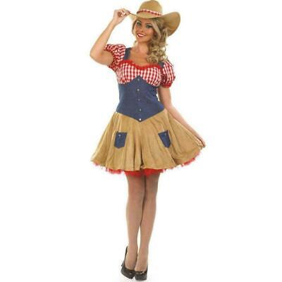 Cowgirl Costume Dress Hat - Adult Sexy Fancy Dress ](Cowgirl Dress Costume)