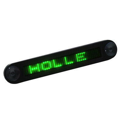 12v Car Mini Led Programmable Message Sign Scrolling Display Board Wremote B9f0