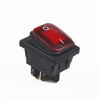 Red Waterproof Rocker Switch 4pin 2position 16av250ac 20aac125v