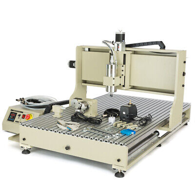 Usb 4axis Cnc6090 Router Engraver Diy Carving Milling Machine 2.2kw Controller