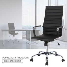 SALE! Ribbed High-Back Executive Desk Chair PC Computer Office Chair