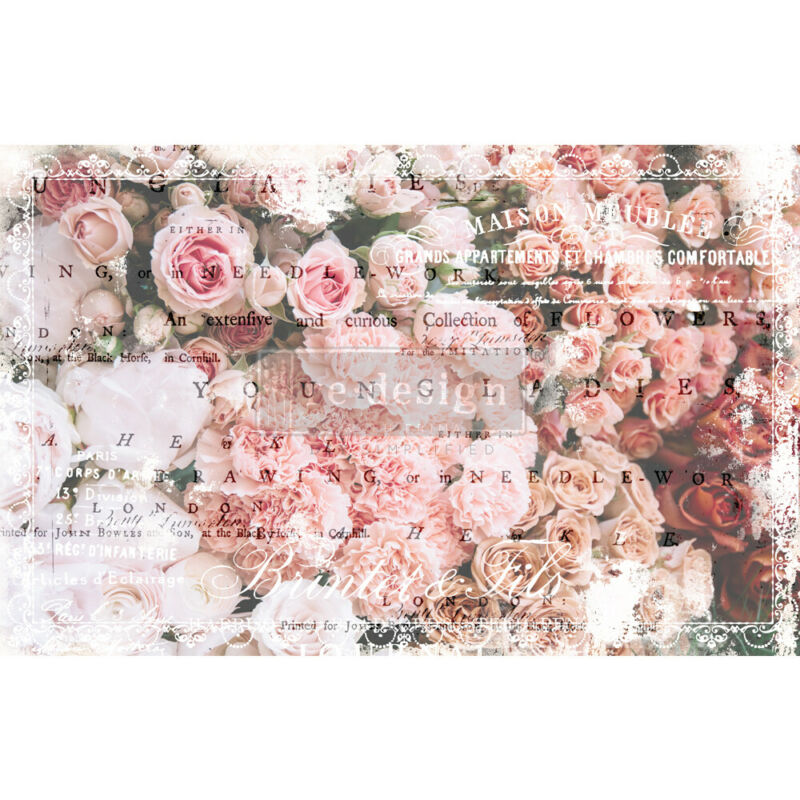 Angelic Rose Garden Decoupage Decor paper by redesign with Prima!