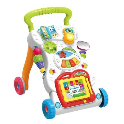 Baby Kids Toddler Musical Toy Child Cartoon Walker Stroller Funny Walkers Toy