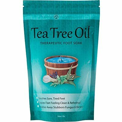 Tea Tree Oil Foot Soak With Epsom Salt Treat Nail Fungus Athletes Foot 16 (Best Foot Soak For Nail Fungus)