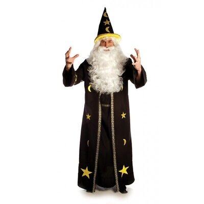 Potion Master Costume Wizard Mens Adult Black Halloween Robe Standard Plus Size