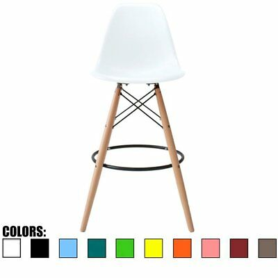 Modern Contemporary Counter Stool Barstool Height Pub Chairs Eiffel Wood Legs