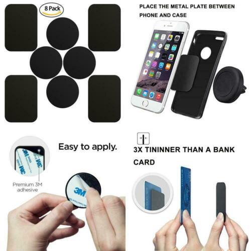 8× Metallplättchen Set für Magnet KFZ Halterungen Ersatz Metallplatte Handy DE