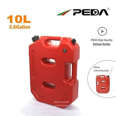 10L Plastic Jerry Can Portable Diesel Oil Fuel Tank for SUV ATV Car Motorcycle