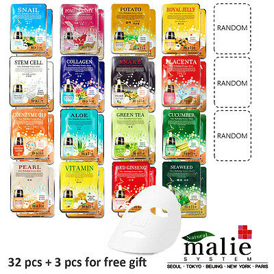 Mask Essence 35pcs Korean Cosmetics Malie Facial Mask Essence Daily Skin Care