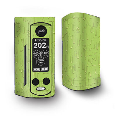 Skin Decal for Wismec Reuleaux RX Gen3 Dual Vape / Dripping Cartoon Slime Green