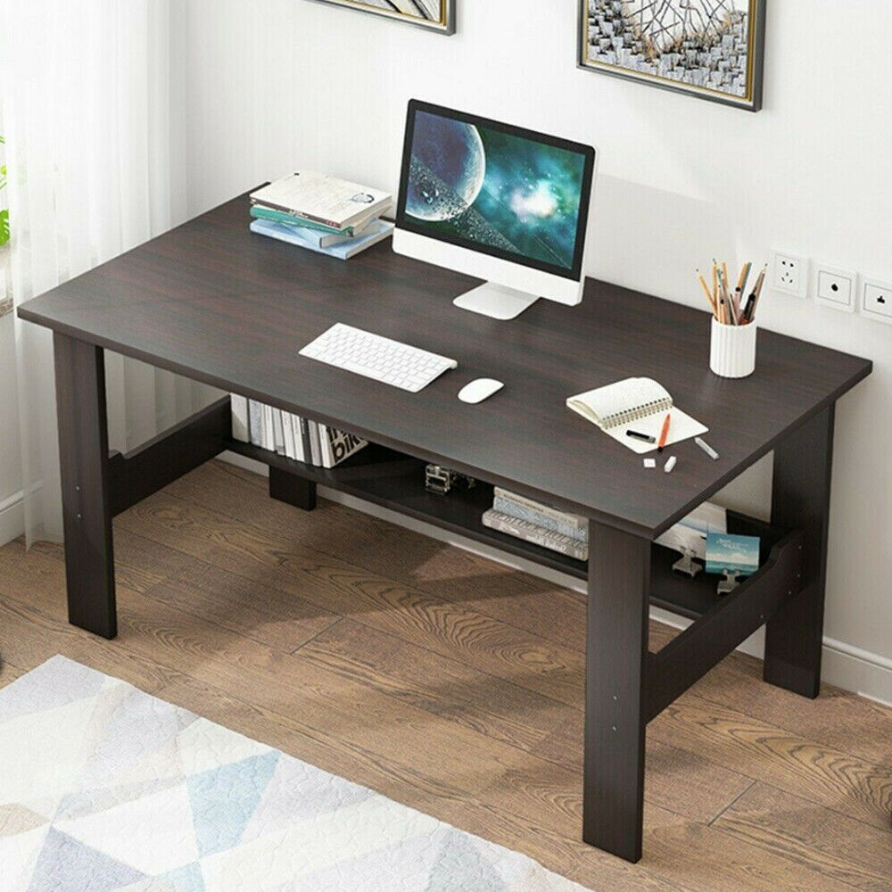Study Computer Desk PC Laptop Table Dorm Workstation Wood Home Office with/Shelf