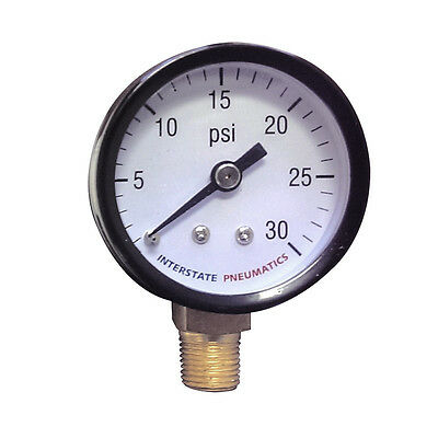 Pressure Gauge 0-30 Psi 1.5 Diameter 18 Npt Bottom Mount - G2001-030