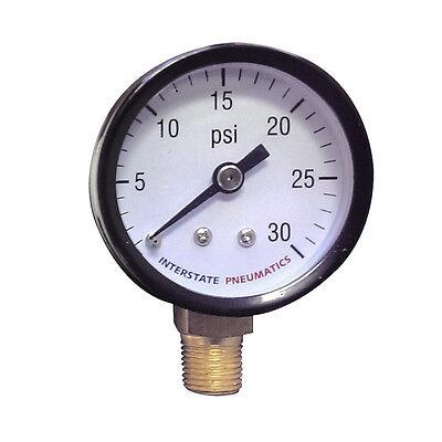 Pressure Gauge 0-30 Psi 1.5 Diameter 18 Npt Bottom Mount - G2001-030