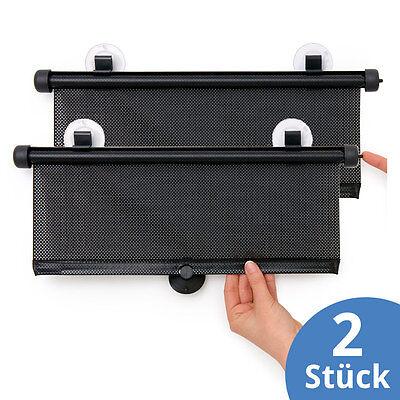 Hauck 2x Sonnenschutz-Rollo für Seitenfenster Sonnenblende Auto Kinder Baby