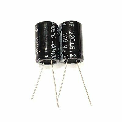 10pcs 100v 220uf 100volt 220mfd 105c Electrolytic Capacitor 1320mm