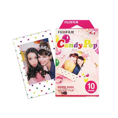 Fujifilm Instax Mini Candy P op 10 Film For Fuji 8 9 25 50s 90 SP-1 SP-2 Instant