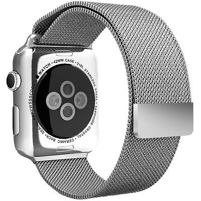Stainless Steel Magnetic Loop Watch Band Bracelet Strap for Apple iWatch 42mm