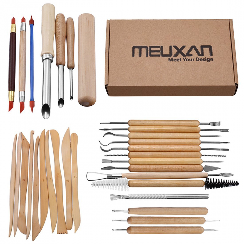 6pcs Wax Soap Clay Carving Set Modelling Tool Pottery Craft Sculpting UK SELLER