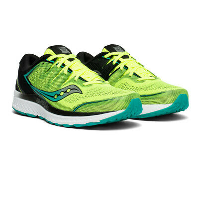 Saucony Mens Guide ISO 2 Running Shoes Trainers Sneakers - Black Green Sports