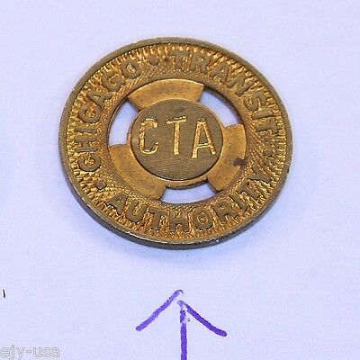 Rare 16mm Bronze CTA Chicago Transit Authority Surface Patten Token 998-M