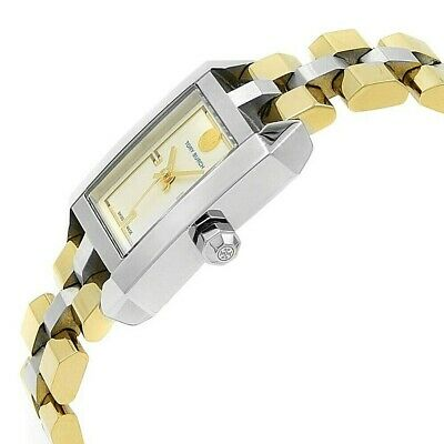 TORY BURCH TB1102 DALLOWAY, TWO TONE STAINLESS LADIES WATCH NIB/WTAG