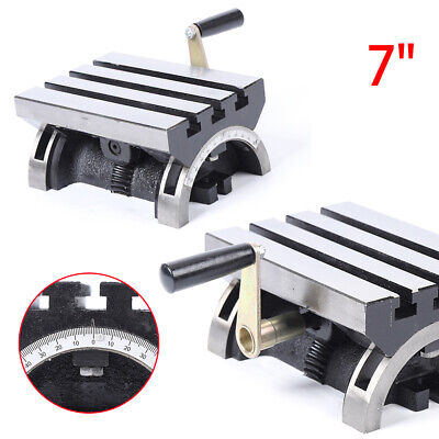 Tilting Table Swivel Angle Plate 5 X 7 Adjustable Heavy Duty For Mill Machine