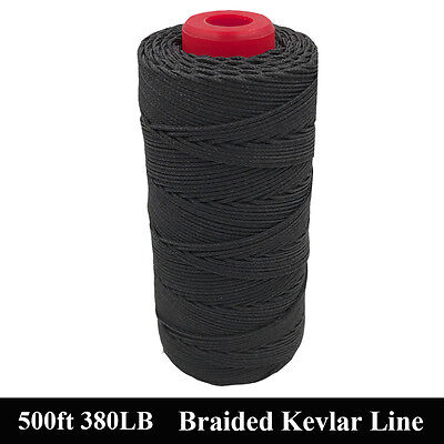 Super Quality Black Kevlar Cord Sewing Threads 380lb 500lb Good Heat Resistance