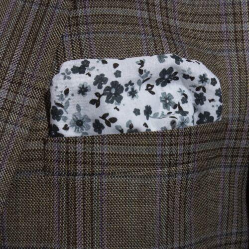 Mens Pink /& Black Check Cotton Bright Pocket Square Hankerchielf Hanky Wedding