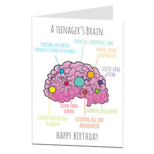 Funny Birthday Card For Teenager 14th 15th 16th 17th Son Daughter Grandson