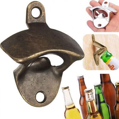 Wall Mount Bottle Opener Beer Bottle Cap Catcher Bar Kitchen Tool - Bronze Color Wall Mount Bottle Opener