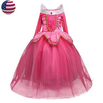 Sleeping Beauty Princess Aurora Party Dress kids Costume Dress #2 for girls (Costume Dress For Kids)
