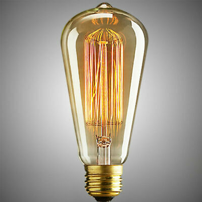 Vintage E27 60W Filament LED Edison Bulb Dimmable Decorative Industrial Light