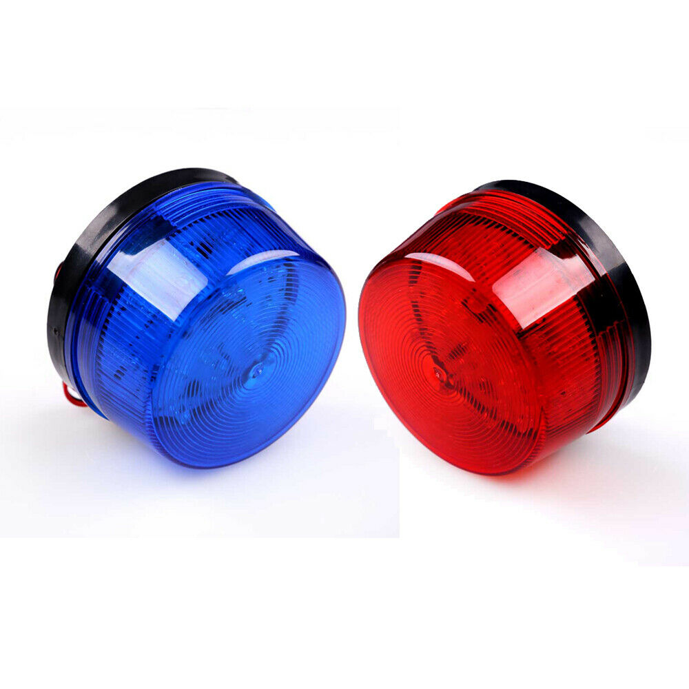 12V Security Alarm Strobe Signal Warning Lamp Blue Red Flashing Light Red