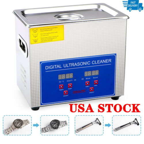 3L Stainless Steel Digital Industrial Heated Ultrasonic Cleaner Tank w/ Timer