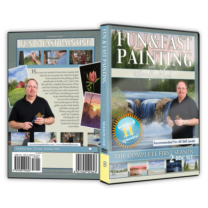 """Wilson Bickford - Video Art Lessons """"Fun and Fast Painting"""" DVD"""
