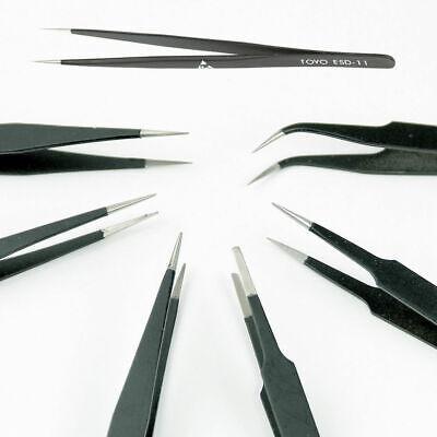 6pcslot Tweezer Different Size Esd10-esd15 Tweezers Bga Reballing Tools