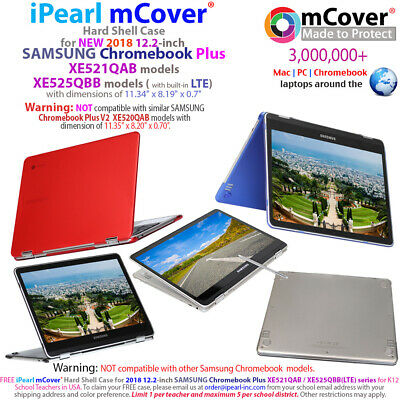"""NEW mCover® Hard Case for 12.2"""" SAMSUNG Chromebook Plus XE521QAB XE525QBB laptop"""