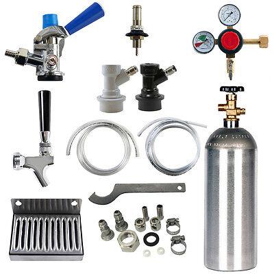 Kegerator Conversion Kit - Universal - Ball Lock To Sankey D Kegs - Co2 Cylinder