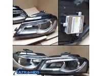 x2 Genuine Bi Xenon AUDI A3 8P HELLA Headlamps PAIR LED DRL Brand new Boxed Ballast