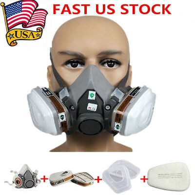New Safety Painting Spraying For 6200 Half Face Dust Gas Mask Respirator N95