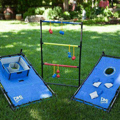 Verus Sports 3-in-1 Tailgate Combo - Bag Toss / Ladderball / Washers,