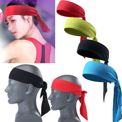 Men Women Sweat Headband Tennis Running Yoga Sports Pirate HairBand Free Bandage (Pirate Headband)