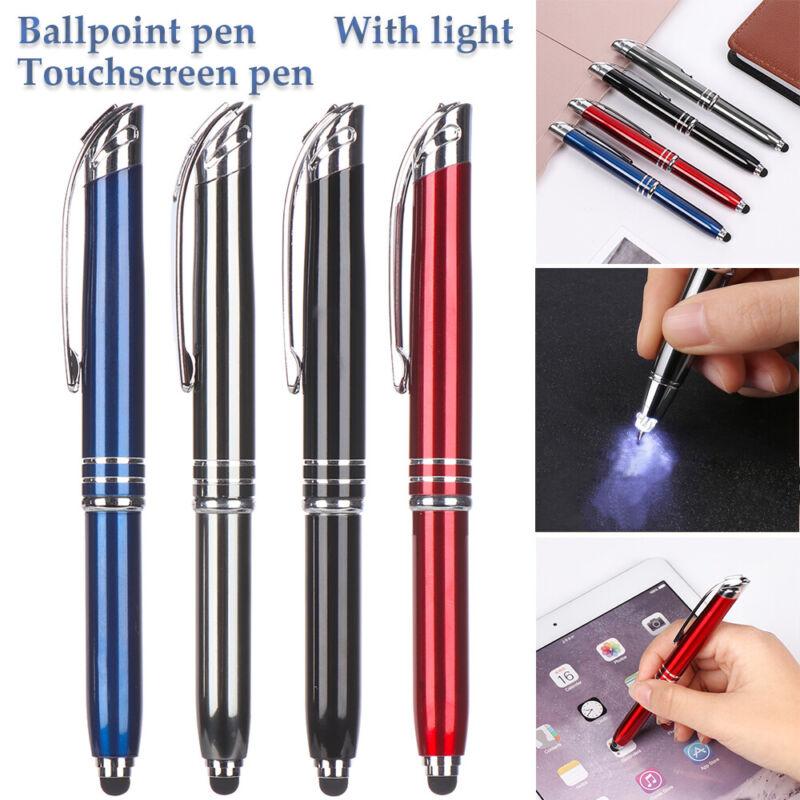 Elegant Multipurpose Ball Point Writing Pen with LED Light a